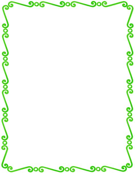 design html page showing forms and frames green spirals border page frames spiral border green