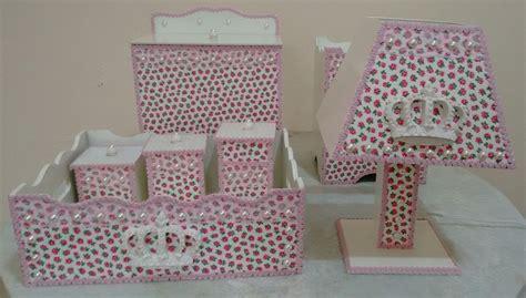 decorar kit de bebe kit higiene bebe mdf menina decorado atelie art e