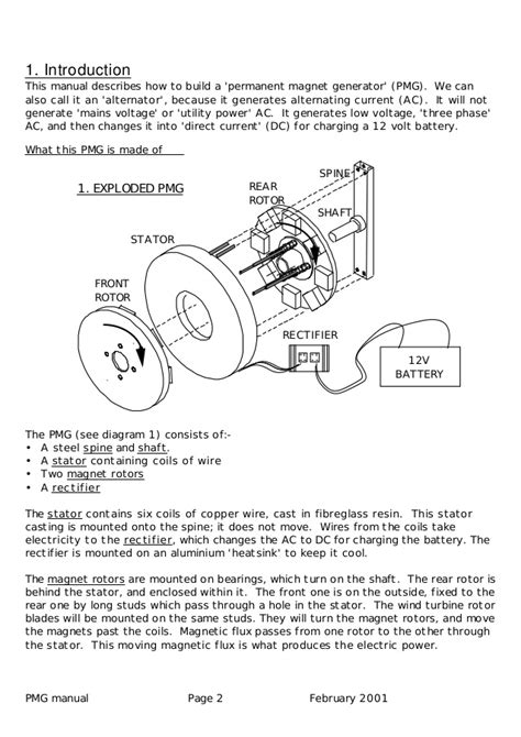 permanent magnet alternator wiring diagram windmill