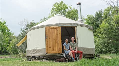 Low Cost Tiny Homes by Couple Building Modern Yurt As Super Portable Tiny Home