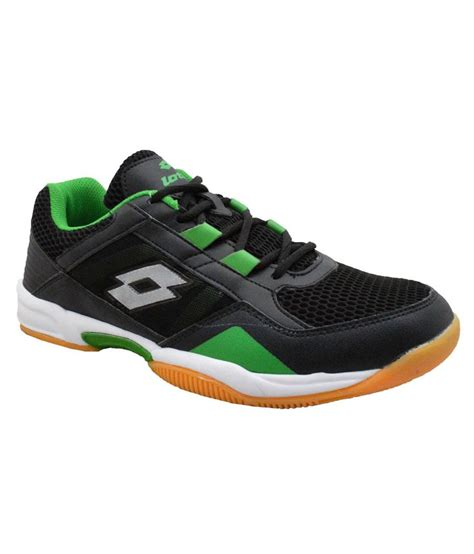 buy lotto black sport shoes for snapdeal