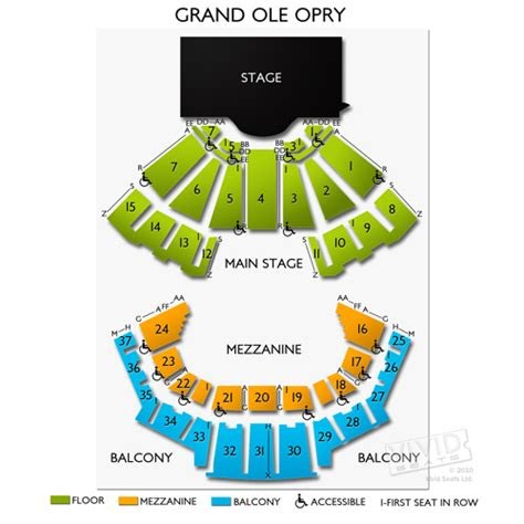 grand ole opry floor plan grand ole opry seating chart at grand ole opry seating