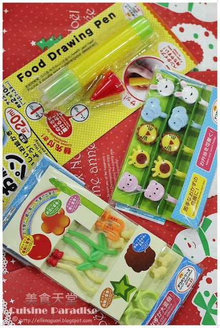 food doodle pens new bento tools food picks puncher cutter and drawing pen