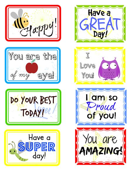 printable lunchbox notes adorable free printable lunch box notes the shady lane