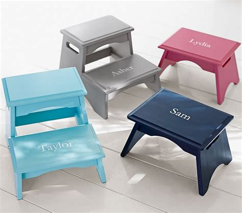Puku Stool By Baby On Board personalized step stools pottery barn