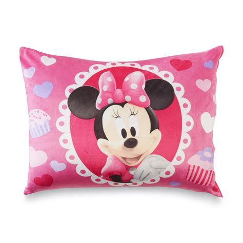 pillow for toddlers disney minnie mouse plush bed pillow hearts cupcakes