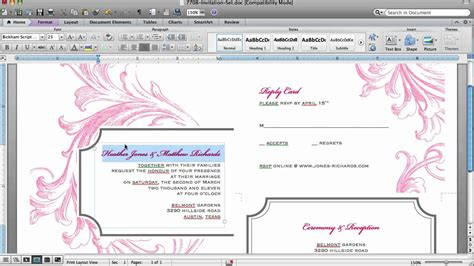 card in microsoft word how to customize an invitation template in microsoft word