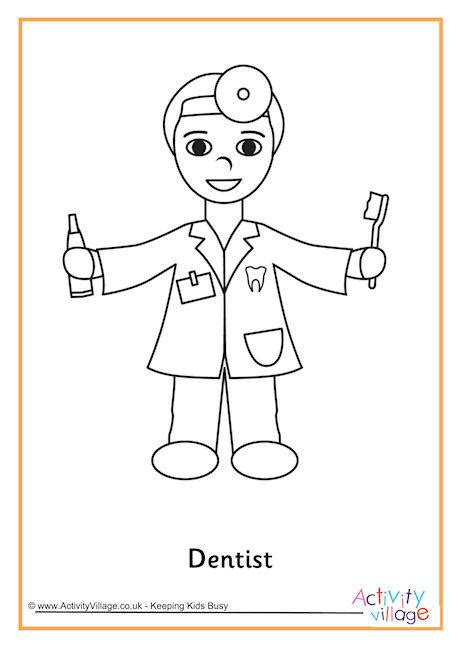 girl dentist coloring page dentist colouring page