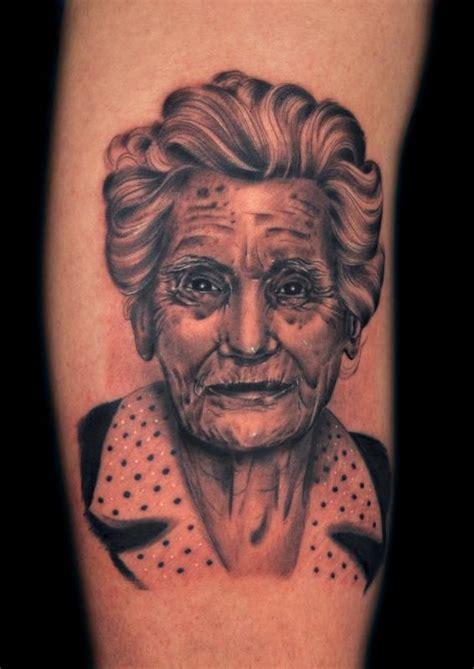 grandmother tattoos grandmother black n gray by marco biondi tattoos