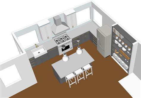 google sketchup kitchen design using google sketchup to design a kitchen bay on a budget