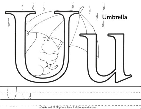coloring pages letter u animals coloring pages bunny series
