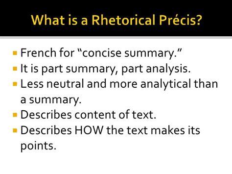 summary vs precis