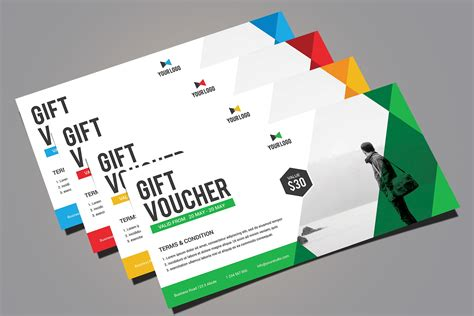 templates for vouchers design gift voucher card templates creative market