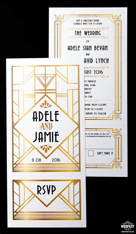 Wedding Invitations Great Gatsby by Gatsby Themed Wedding Wedfest