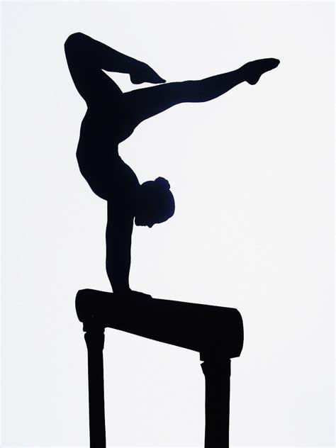 printable gymnastics stencils custom full body silhouette gymnastics not a print