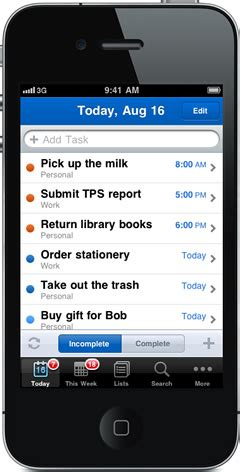 iphone list to do list app iphone to do list template