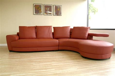 Red Chaise Sofa Curved Sectionals Leather Sofas Roselawnlutheran