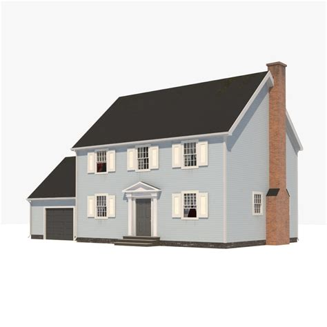 3d house 3d colonial house