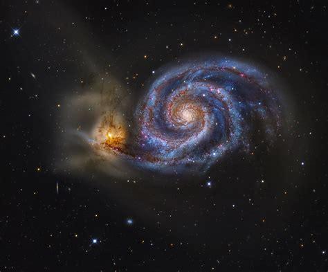 whirlpool galaxy m51 ngc 5194 5195