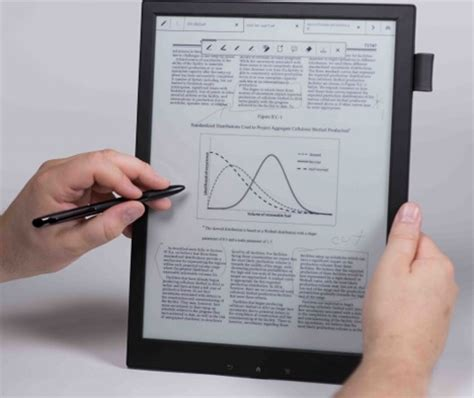 e paper writing tablet sony s digital paper tablet lets the office go paperless