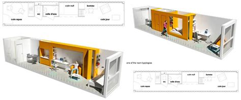 layout container house one wall living they forgot the laundry