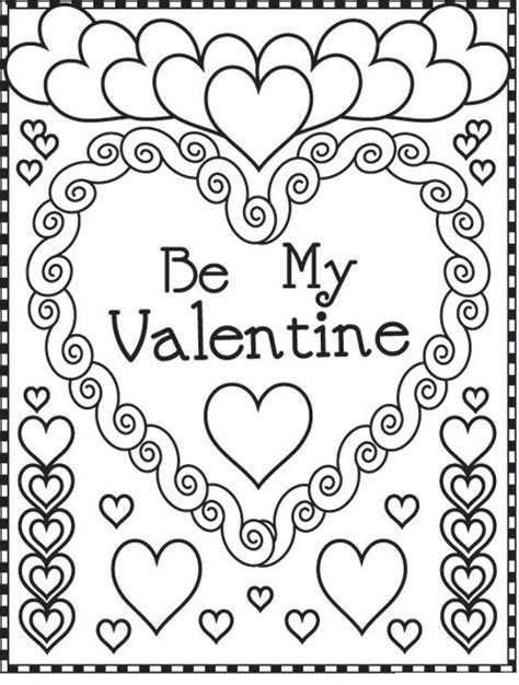 valentine color page valentine coloring pages best coloring pages for kids