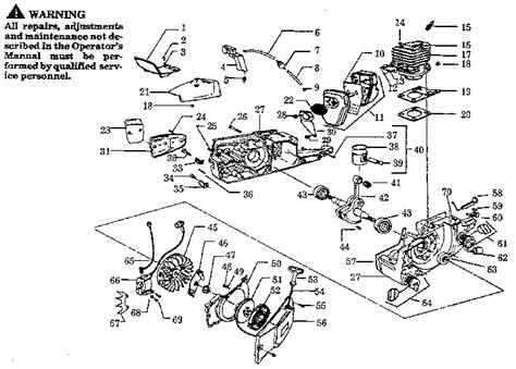 poulan thing chainsaw parts diagram size