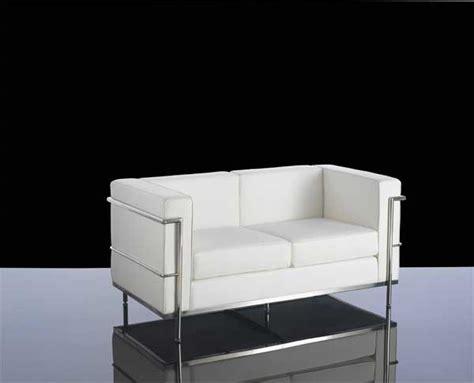 White Leather Two Seater Sofa 610 2 White Leather 2 Seater Reception Sofa Cube 610 2 White Leather 2 Seater Reception Sofa