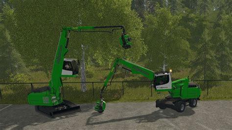 farming simulator mobile farming simulator 17 sennebogen 718e mobile sennebogen
