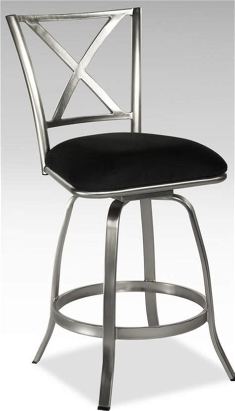 Stainless Steel Counter Stools With Backs by Stainless Steel X Back Swivel Counter Stool W