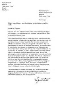lettre de motivation r 233 ceptionniste mod 232 le de lettre
