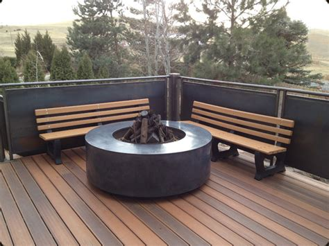 modern outdoor firepit modern outdoor pit 171 concrete pete