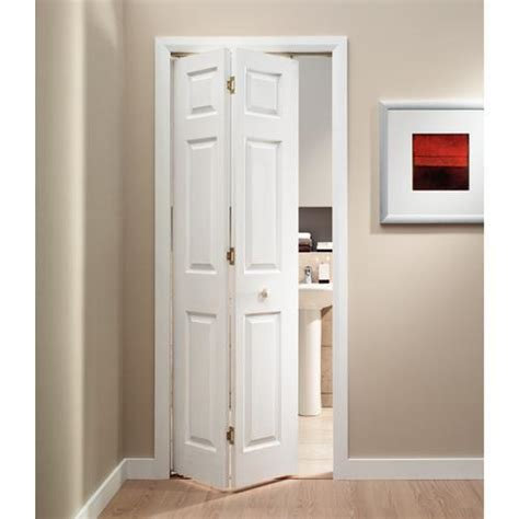 Bi Folding Interior Doors Wickes Woburn Bi Fold Door White Grained Moulded 6 Panel 1981x762mm Bi Fold Doors