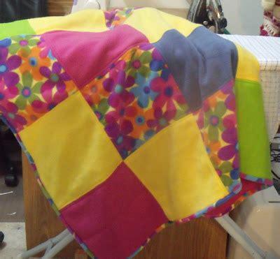 Patchwork Fleece Blanket - a crafting fool patchwork fleece blanket