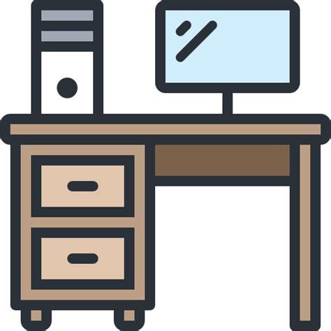 icone ufficio scrivania computer studio monitor ufficio icona libero