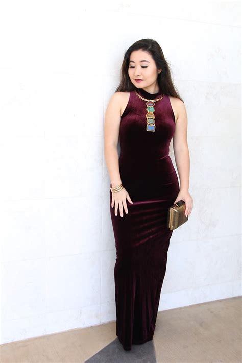 poncho tanabe kristen tanabe minkpink burgundy velvet dress sylvia
