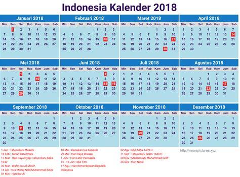 Kalender 2018 Pemerintah Indonesia 13 Desain Kalender Indonesia 2018 Lengkap Dengan Hari