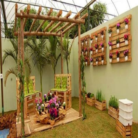 Garden Arbor Made From Pallets Creative Ideas For Wood Pallets Pallet Ideas Recycled