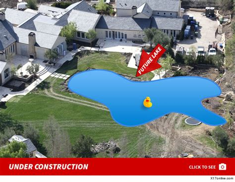 kanye west house kanye west kim kardashian digging a backyard lake after drake pool diss tmz com