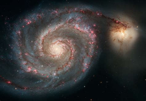 whirlpool galaxy messier 51 the whirlpool galaxy nasa