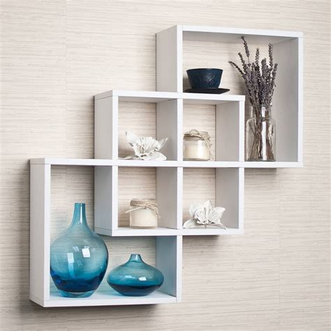 wall decor shelves decorative wall shelves astonishing three white finish