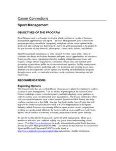 objectives in resume sles resume for sports management degrees sales management