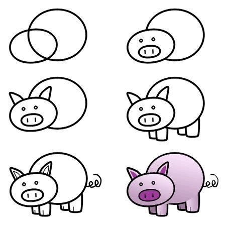 easy photo doodle drawing free how to draw a pig draw drawing