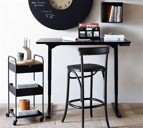 pottery barn lucas desk printer s sit stand electric adjustable desk pottery barn