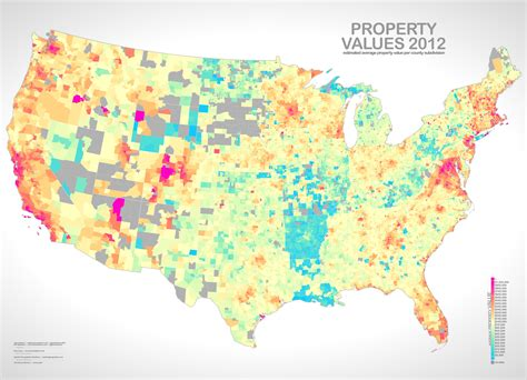 map where property taxes are compared to property
