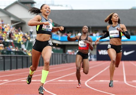 how to style hair for track and field more pics of allyson felix running shoes 5 of 31
