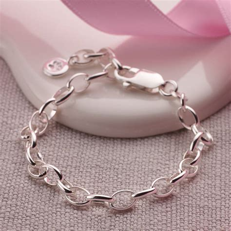 child s silver charm bracelet by molly brown