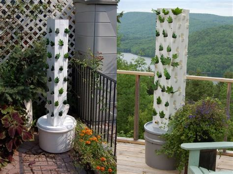 Tower Vegetable Garden Garden Up Plant Towers Make It Easy To Grown Your Own