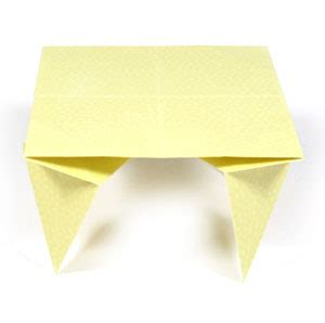 How To Make An Origami Table - how to make a traditional origami table page 1