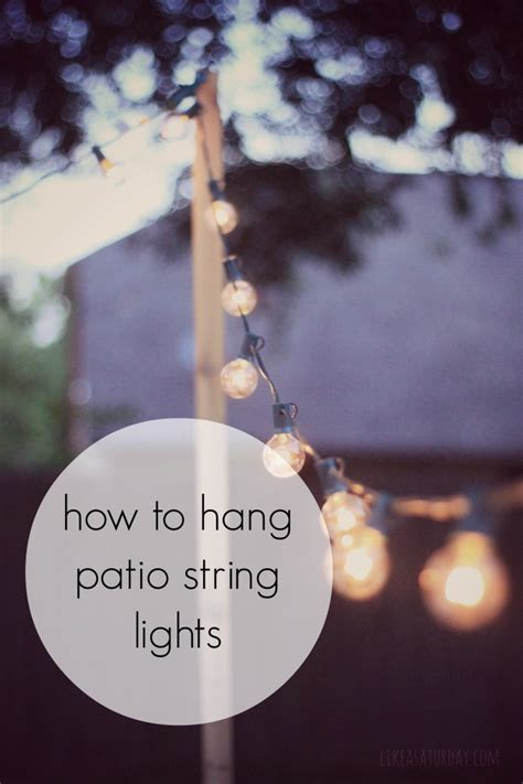 what to use to hang lights outside how to hang patio string lights for when you don t something like a tree to hang them